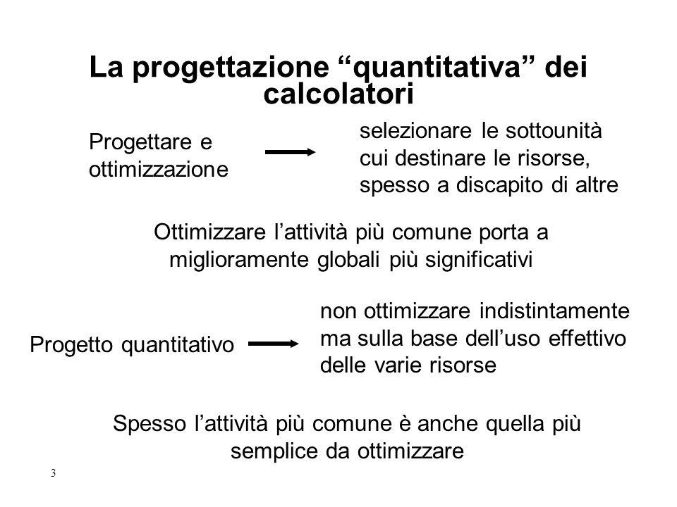3 Progettare e ottimizzazione Ottimizzare lattività più comune porta a miglioramente globali più significativi La progettazione quantitativa dei calco