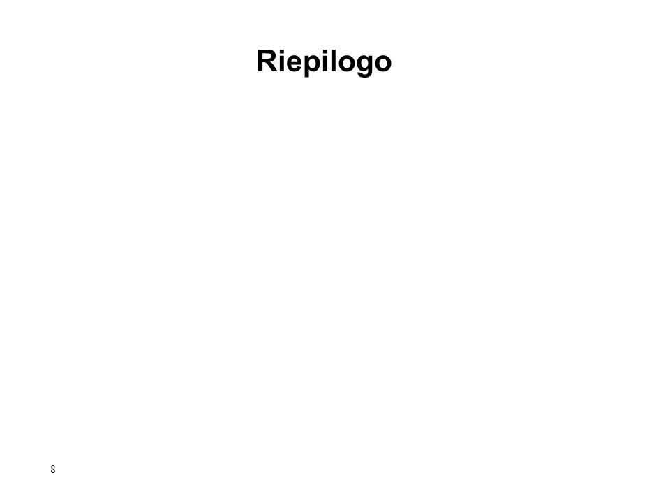 8 Riepilogo