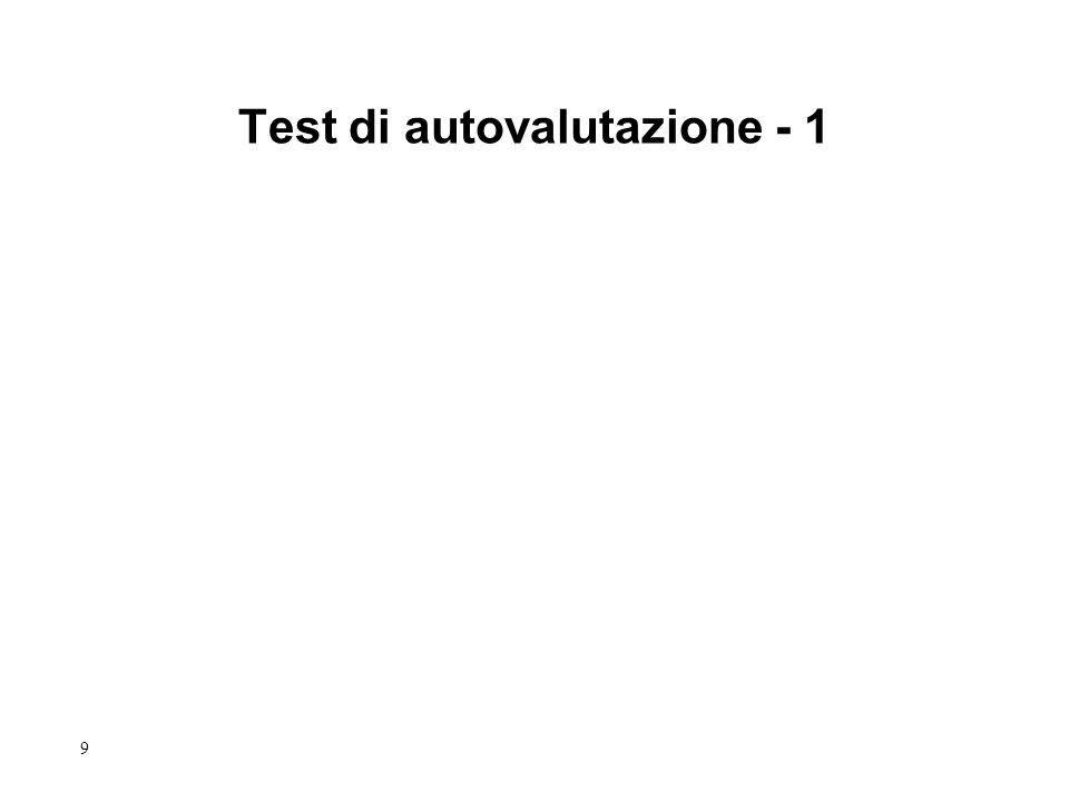 9 Test di autovalutazione - 1