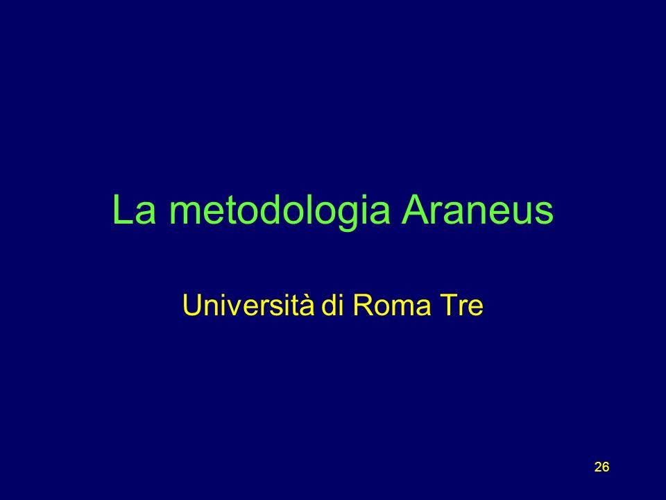 26 La metodologia Araneus Università di Roma Tre
