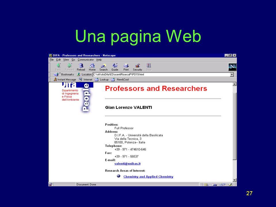 27 Una pagina Web