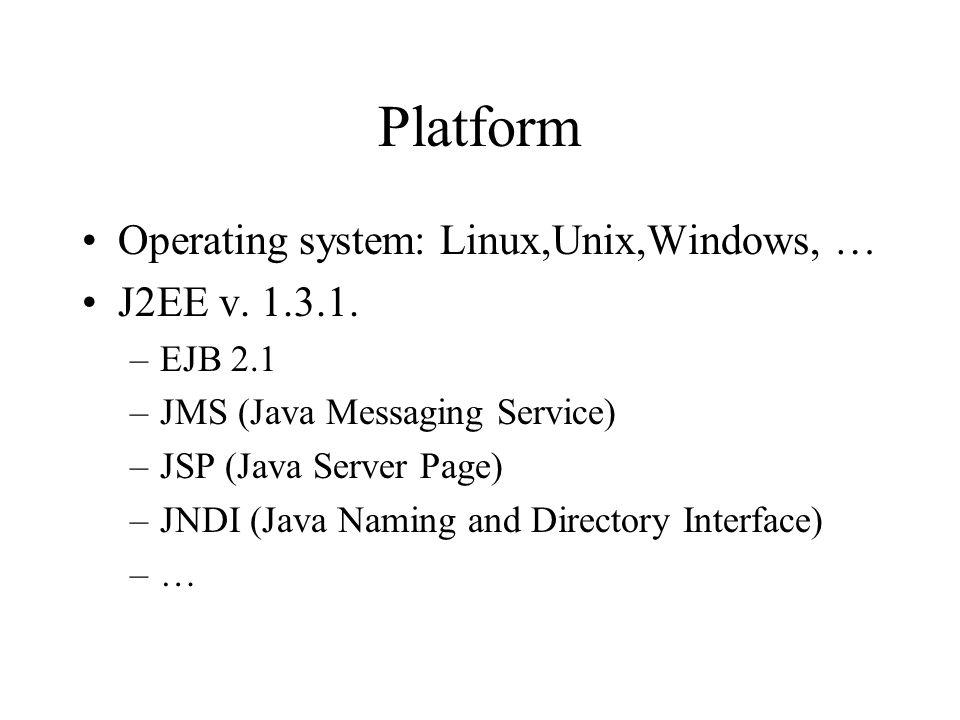e-Service specification Description: WSDL v.1.1 (v.1.2) Orchestration: BPEL4WS v.1.0 Registry: UDDI v.2.0 (v.2.1) Invocation over HTTP, SOAP