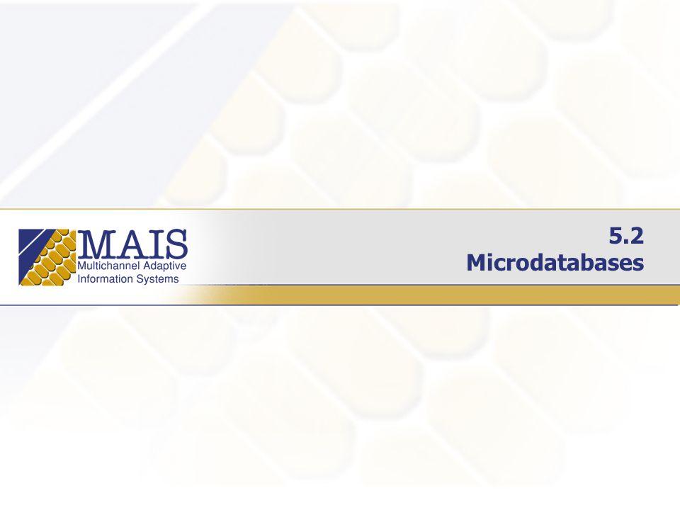5.2 Microdatabases
