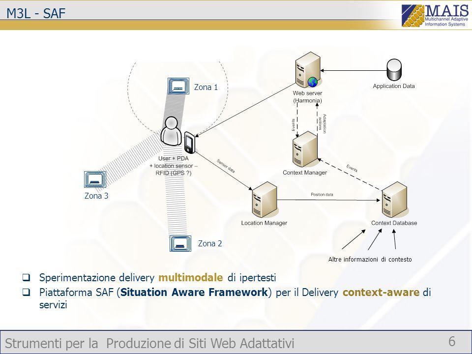 Strumenti per la Produzione di Siti Web Adattativi 7 Altri contributi nellambito dellattività 1 Metodologie e tecnologie di Identity Management (con particolare riferimento a modelli per il controllo degli accessi) nel contesto di architetture service-oriented (ISUFI) Contributo alla definizione del modello utente (RM1, RM3, ISUFI)