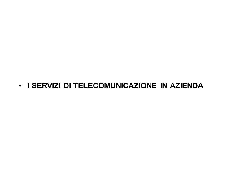 I SERVIZI DI TELECOMUNICAZIONE IN AZIENDA LA GESTIONE DEI DATI AZIENDALI LE ARCHITETTURE DEI SISTEMI INFORMATIVI LA GESTIONE DELLETEROGENEITA DELLE IN