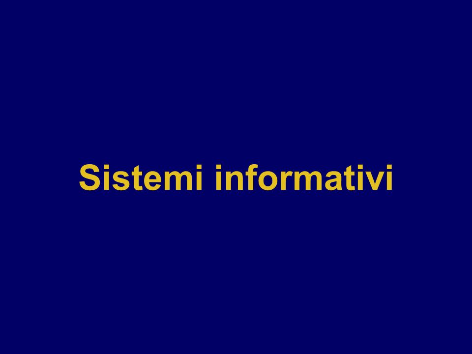 Sistemi informativi