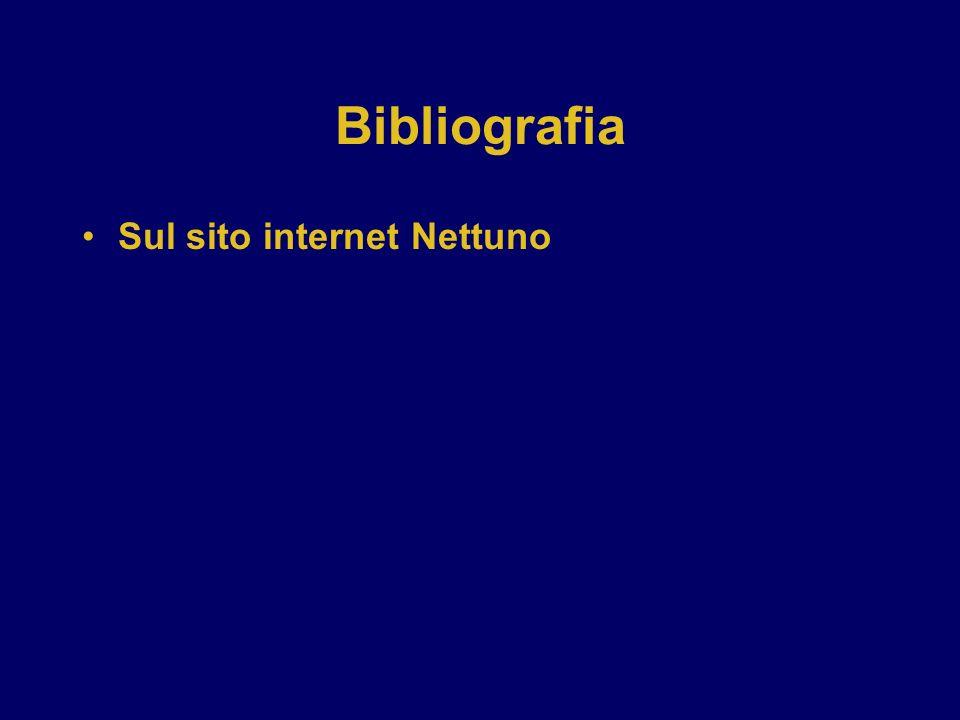 Bibliografia Sul sito internet Nettuno