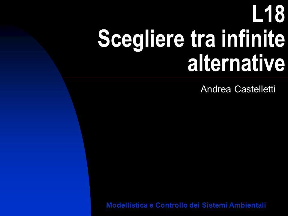 L18 Scegliere tra infinite alternative Andrea Castelletti Modellistica e Controllo dei Sistemi Ambientali
