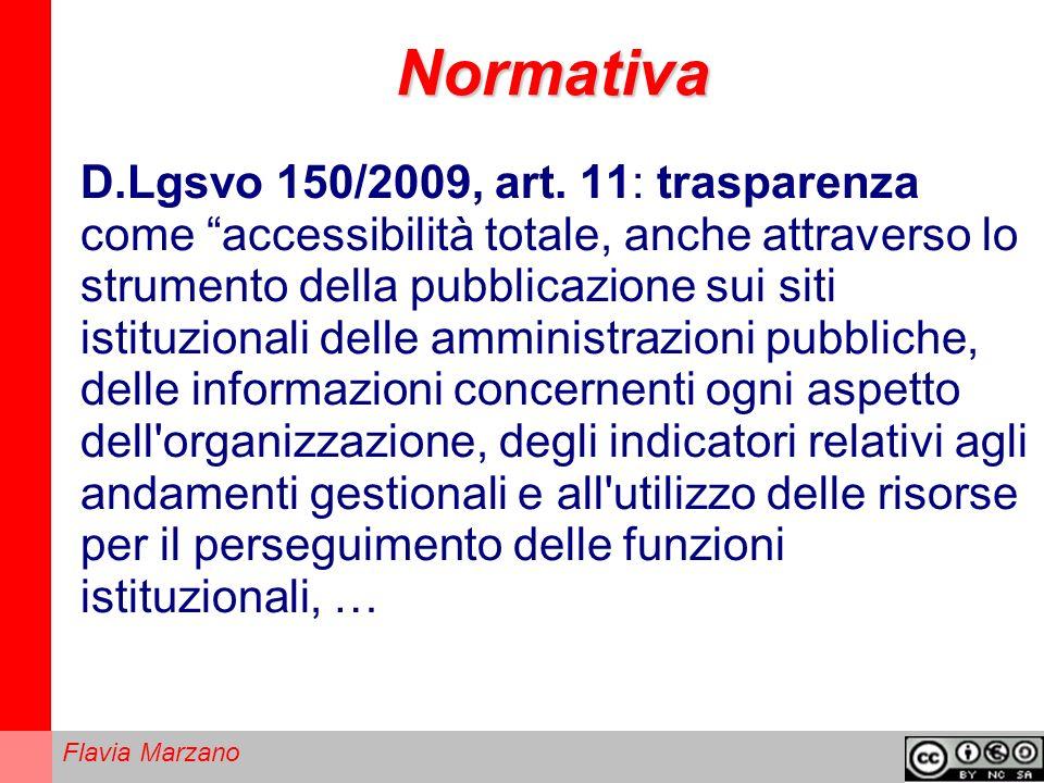 Flavia Marzano Normativa D.Lgsvo 150/2009, art.