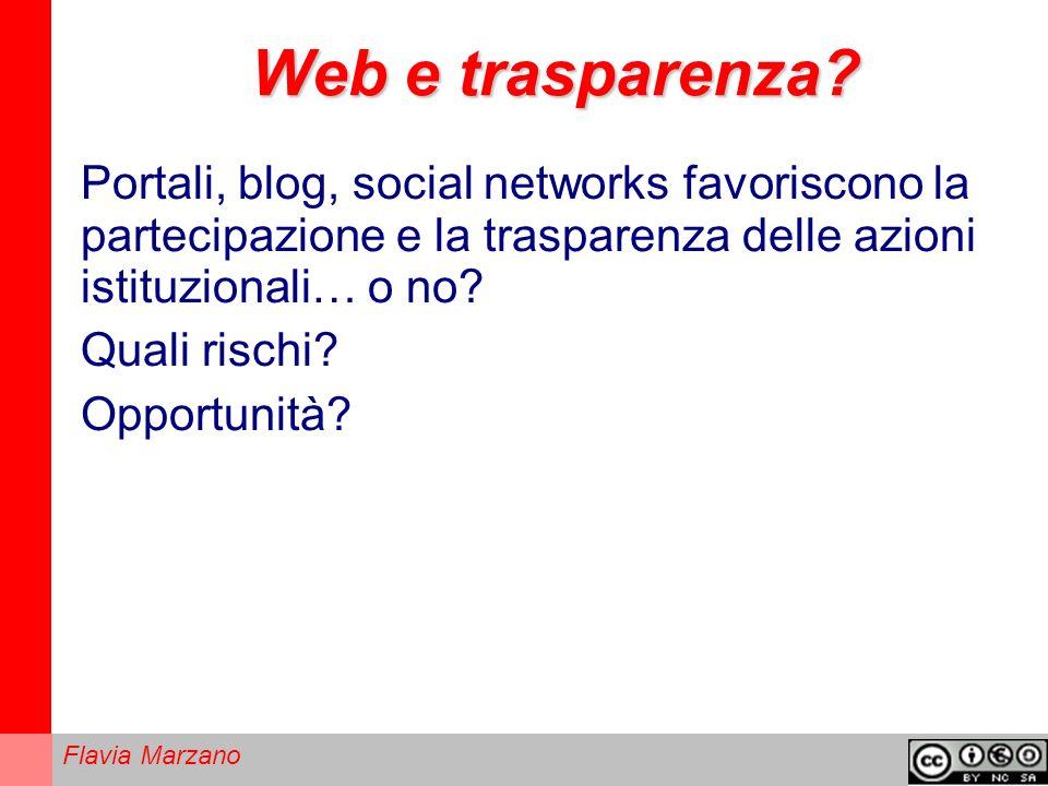 Flavia Marzano Web e trasparenza.