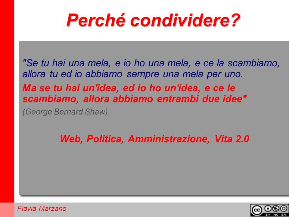 Flavia Marzano Perché condividere.