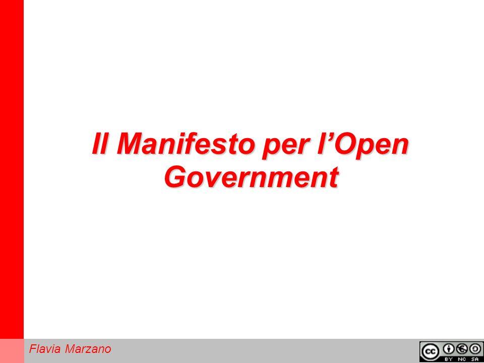Flavia Marzano Il Manifesto per lOpen Government