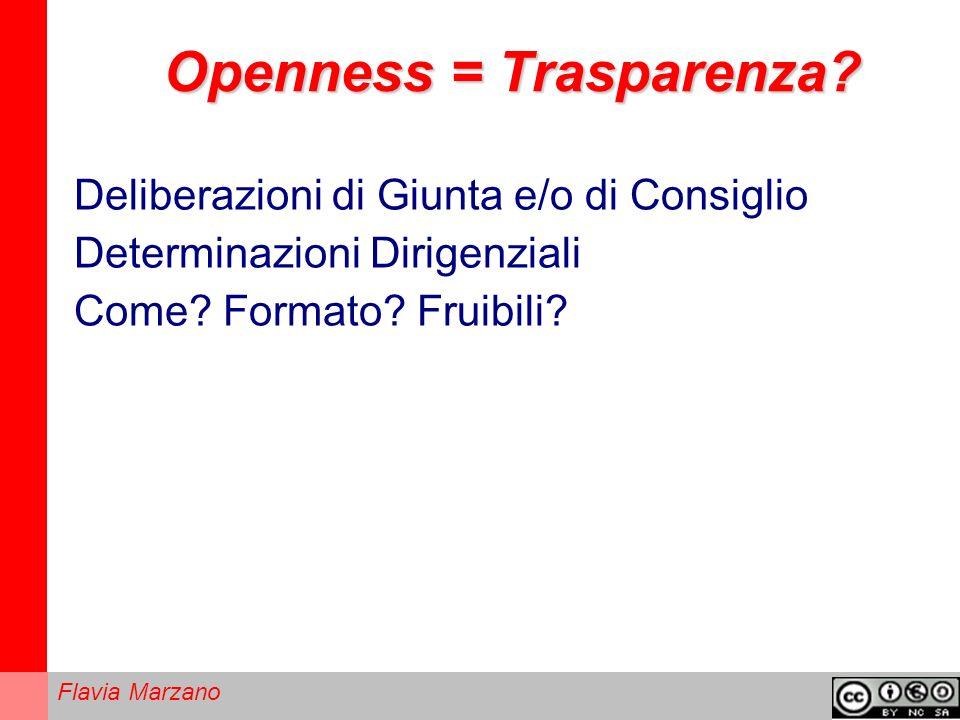 Flavia Marzano Openness = Trasparenza.