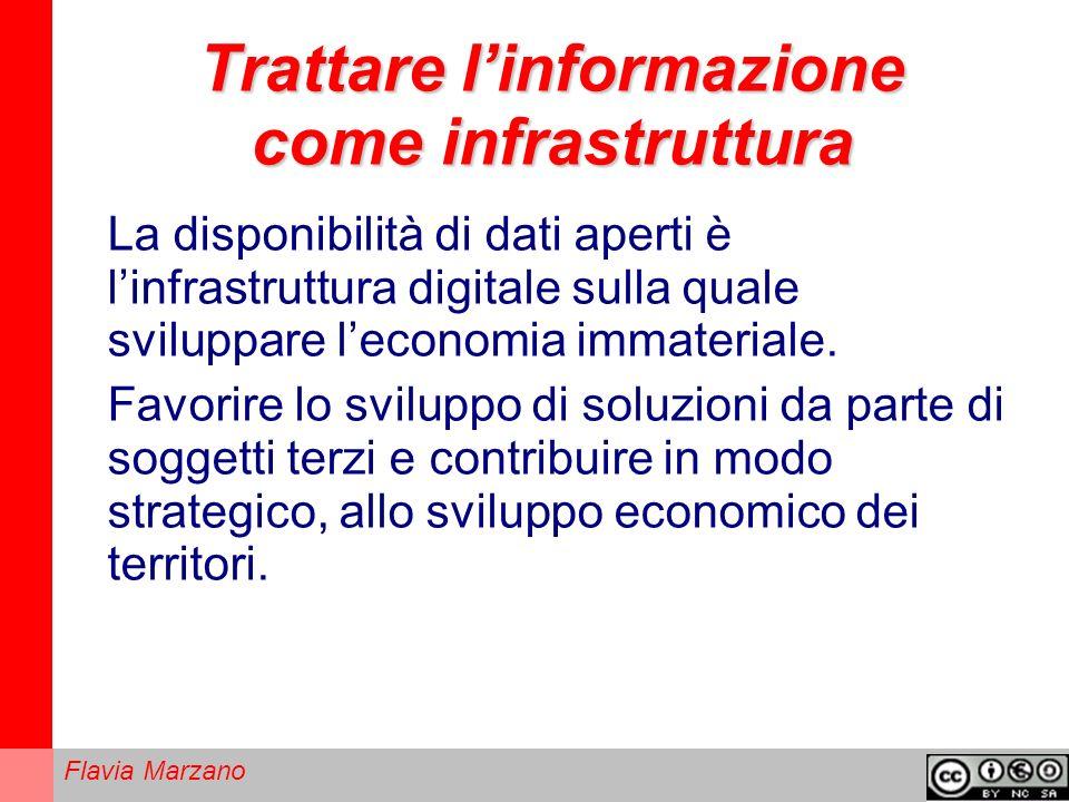 Flavia Marzano Trattare linformazione come infrastruttura La disponibilità di dati aperti è linfrastruttura digitale sulla quale sviluppare leconomia immateriale.