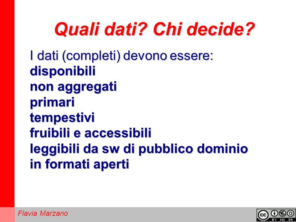 Flavia Marzano Quali dati.Chi decide.