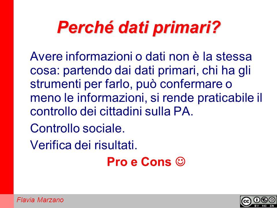 Flavia Marzano Perché dati primari.