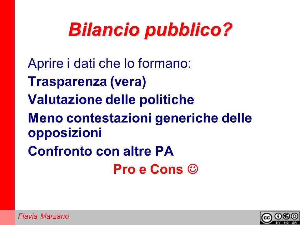 Flavia Marzano Bilancio pubblico.