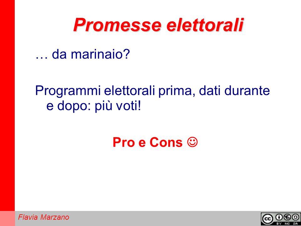 Flavia Marzano Promesse elettorali … da marinaio.