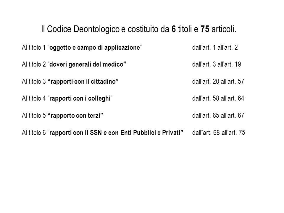 TITOLO I OGGETTO E CAMPO DI APPLICAZIONE Art.