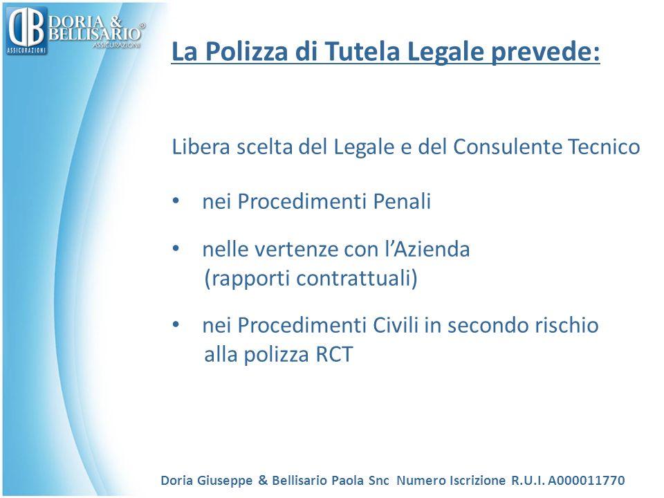 La Polizza di Tutela Legale prevede: Libera scelta del Legale e del Consulente Tecnico nei Procedimenti Penali nelle vertenze con lAzienda (rapporti c