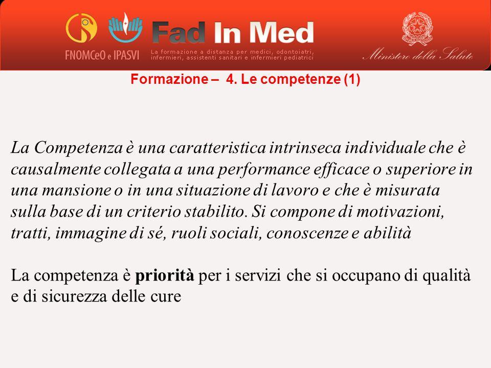La Competenza è una caratteristica intrinseca individuale che è causalmente collegata a una performance efficace o superiore in una mansione o in una