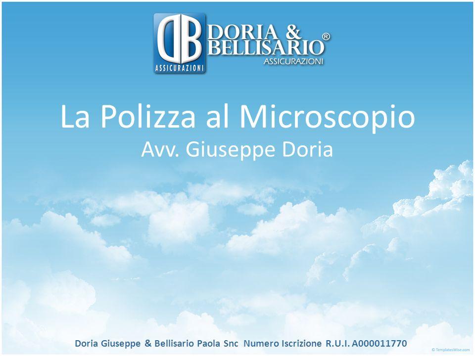 L assicurazione al microscopio Doria Giuseppe & Bellisario Paola Snc Numero Iscrizione R.U.I.