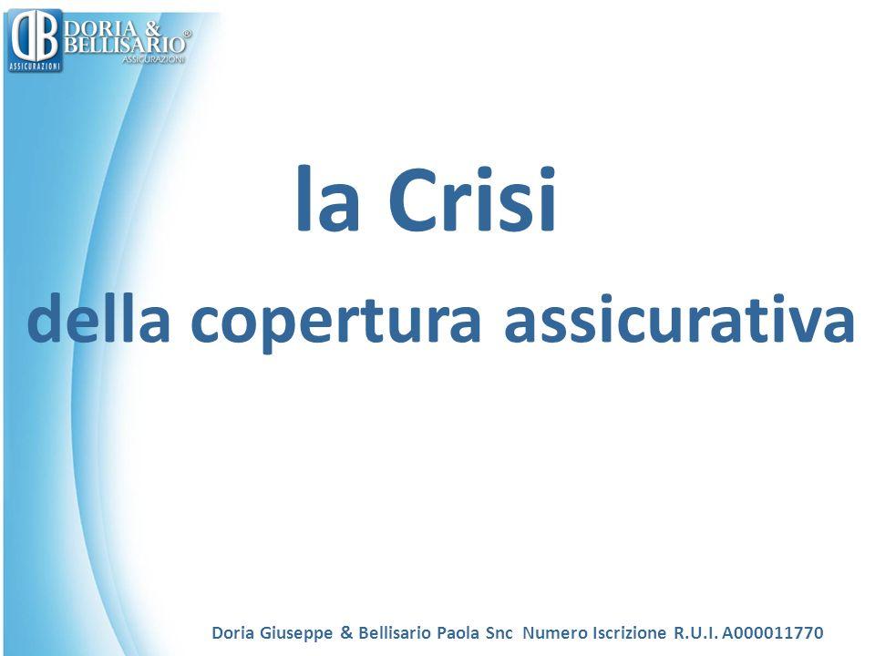 la Crisi della copertura assicurativa Doria Giuseppe & Bellisario Paola Snc Numero Iscrizione R.U.I.