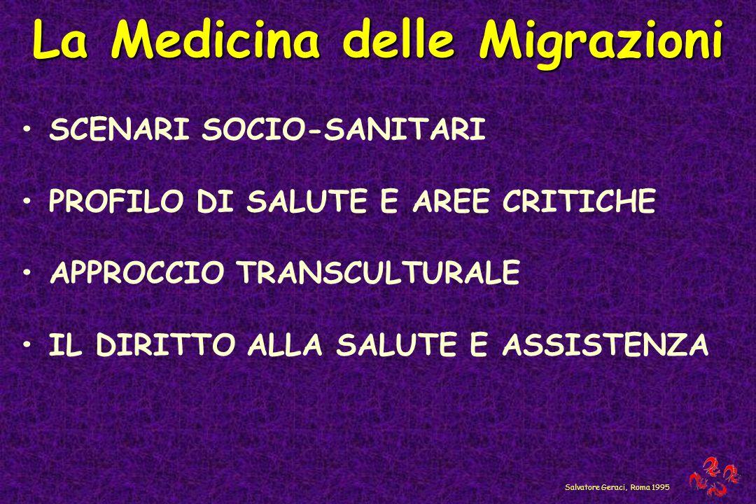 La Medicina delle Migrazioni SCENARI SOCIO-SANITARI PROFILO DI SALUTE E AREE CRITICHE APPROCCIO TRANSCULTURALE IL DIRITTO ALLA SALUTE E ASSISTENZA Sal