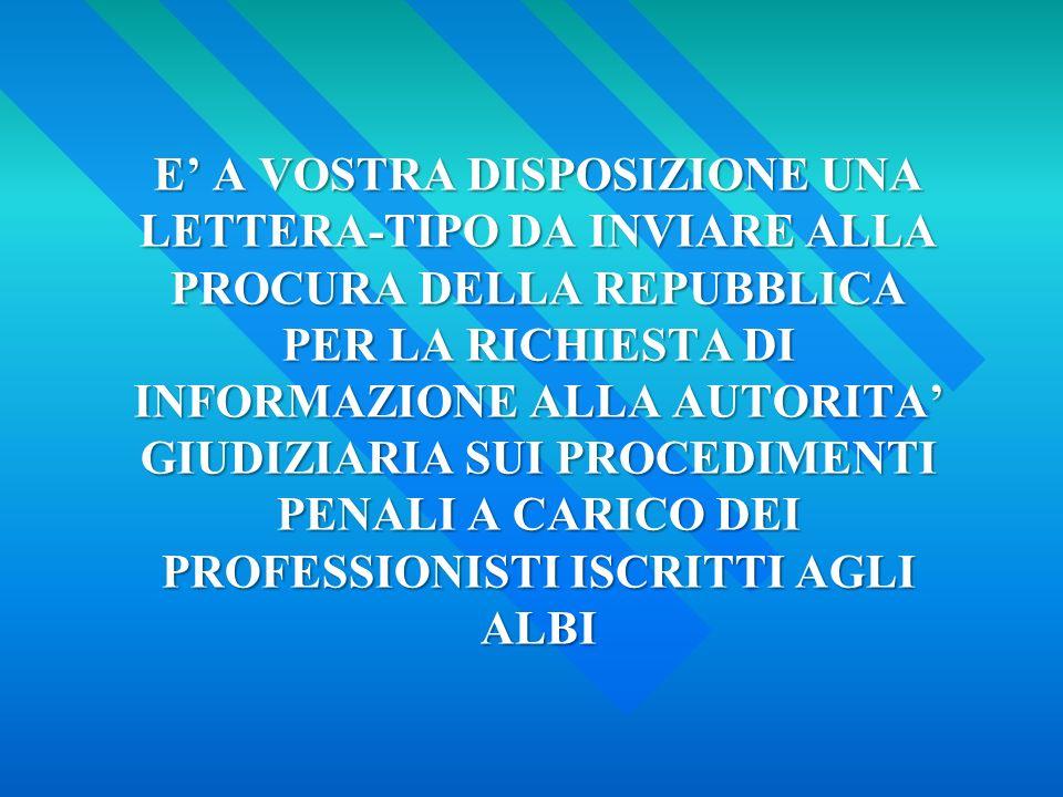 Corte di Cassazione – Sesta Sezione Penale Sentenza 4 Gennaio 2012, n. 79 IL RICORRENTE NON È PARTE DEL PROCEDIMENTO DISCIPLINARE «… nella condotta de