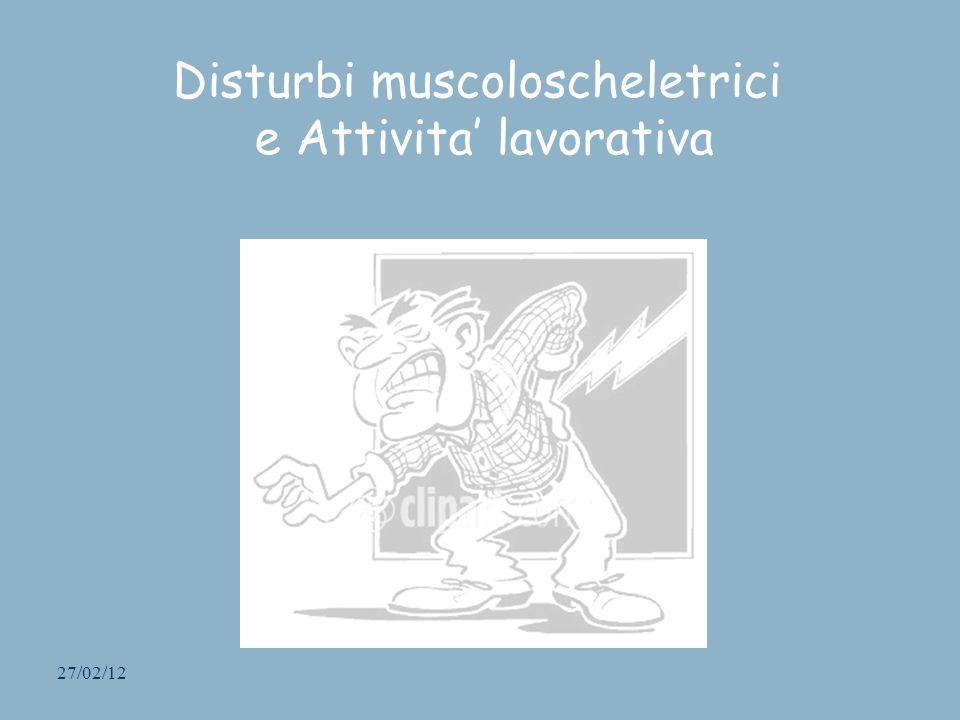 27/02/12 Disturbi muscoloscheletrici e Attivita lavorativa