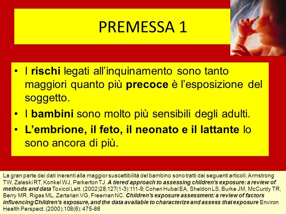 Lezione 2 Tale inquinamento non concerne (sol)tanto taluniesposti per motivi essenzialmente occupazionali, ma tutti noi e soprattutto gli organismi in via di sviluppo (embrioni, feti, bambini, generazioni future).