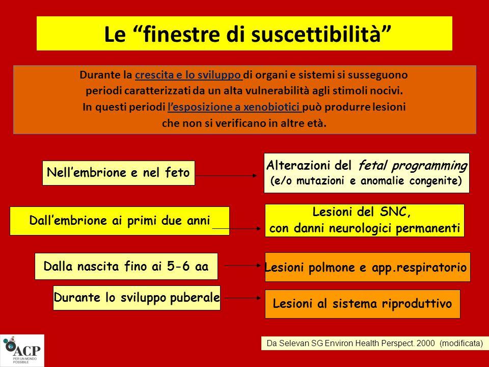 Le due slides successive concernono studi più specifici, ai quali possiamo, in questa sede, solo accennare..