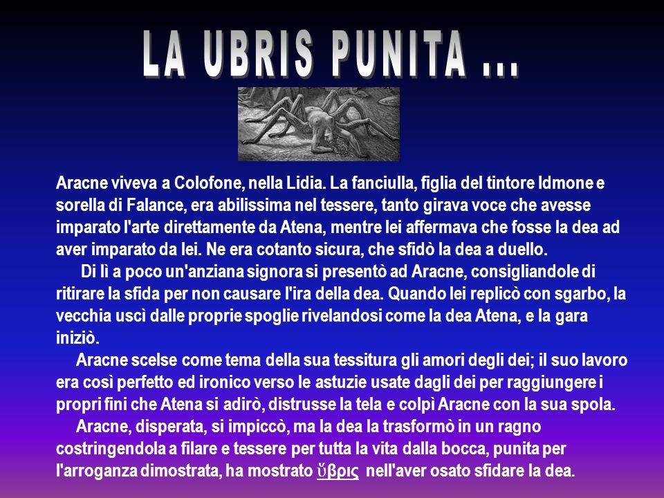 Aracne viveva a Colofone, nella Lidia.