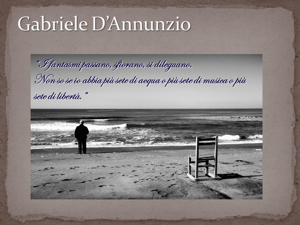 Questo brano, tratto dal Notturno, venne scritto da Gabriele D Annunzio durante il periodo in cui fu costretto a rimanere al buio, e in assoluto riposo, al fine di arginare le conseguenze di un incidente aereo avvenuto in fase di atterraggio demergenza.