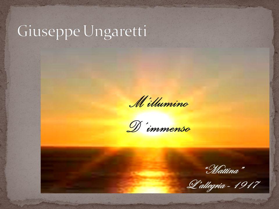 Negli anni del primo conflitto mondiale, Giuseppe Ungaretti matura la sua passione letteraria e poetica.
