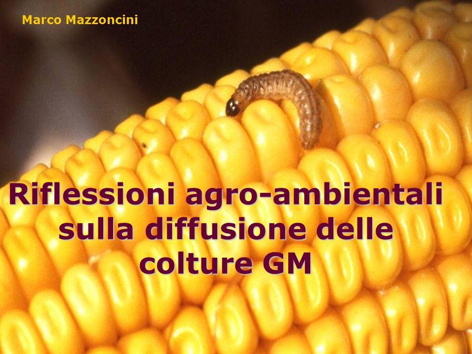 Riflessioni agro-ambientali sulla diffusione delle colture GM Marco Mazzoncini