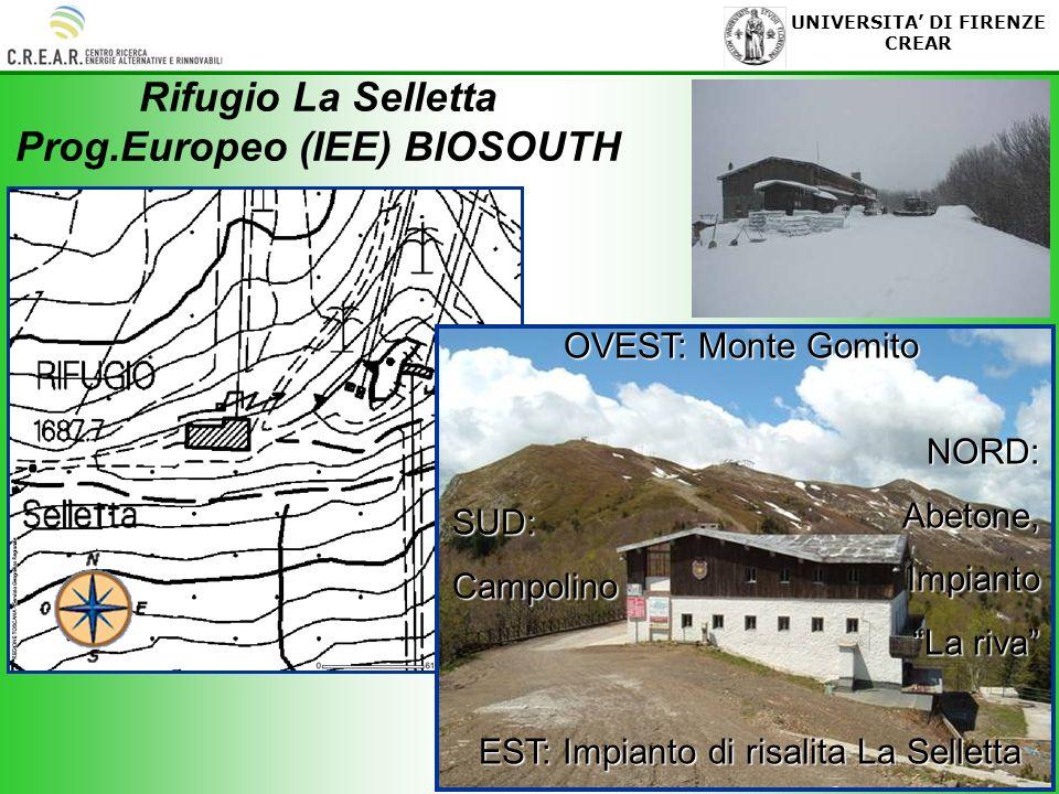 6 UNIVERSITA DI FIRENZE CREAR Rifugio La Selletta Prog.Europeo (IEE) BIOSOUTH