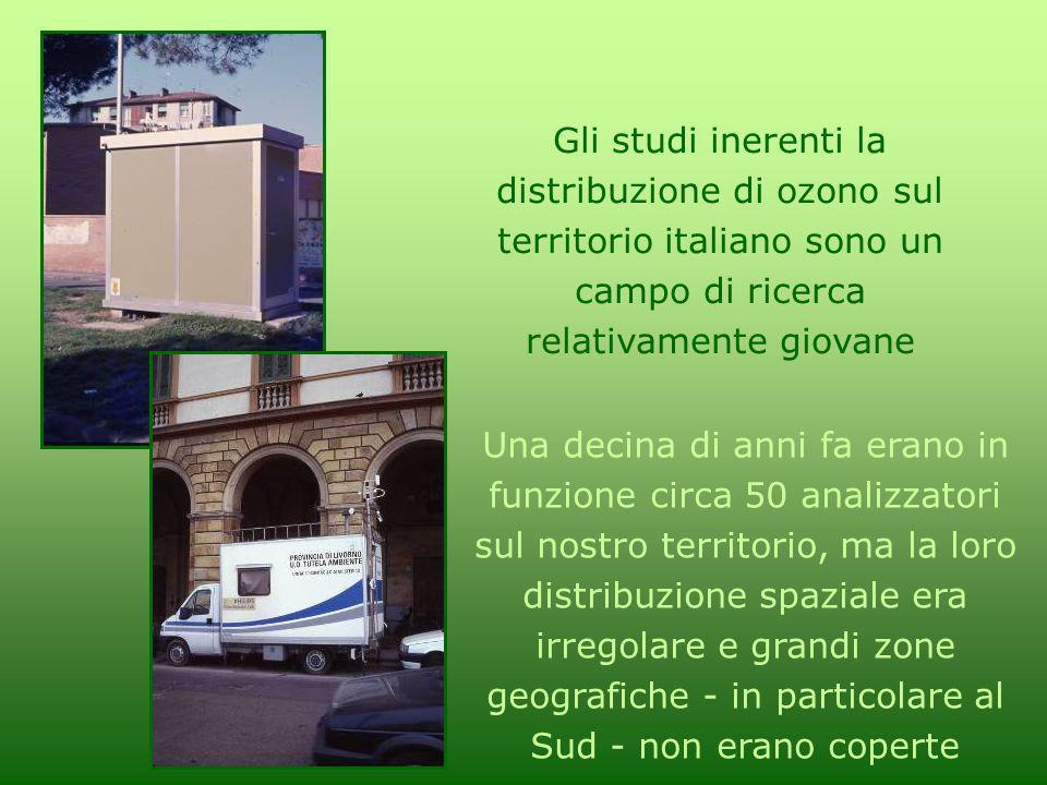 Gli studi inerenti la distribuzione di ozono sul territorio italiano sono un campo di ricerca relativamente giovane Una decina di anni fa erano in fun