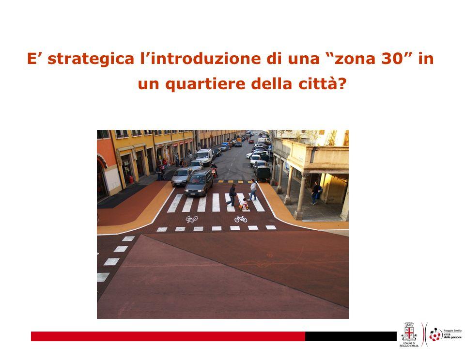 E strategica lintroduzione di una zona 30 in un quartiere della città?