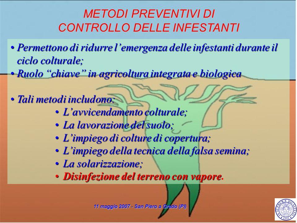 Permettono di ridurre lemergenza delle infestanti durante il ciclo colturale;Permettono di ridurre lemergenza delle infestanti durante il ciclo coltur