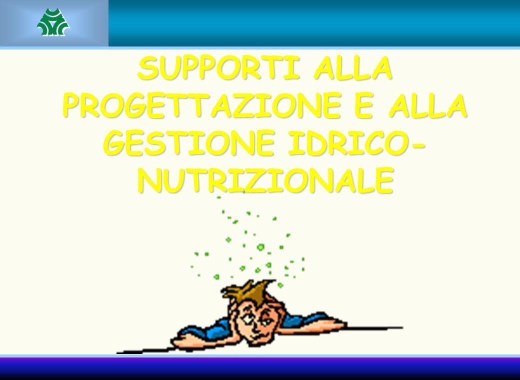 SUPPORTI ALLA PROGETTAZIONE E ALLA GESTIONE IDRICO- NUTRIZIONALE