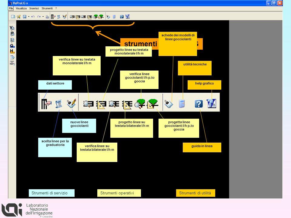 dati settore verifica linee su testata monolaterale l/h m progetto linee su testata monolaterale l/h m verifica linee su testata bilaterale l/h m prog