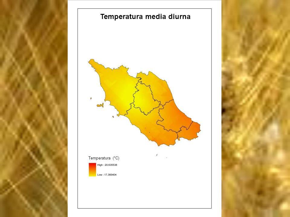 Temperatura media diurna Temperatura (°C)