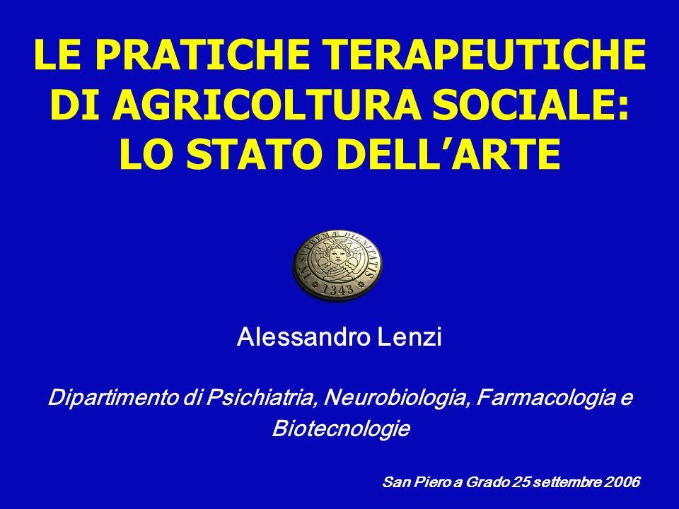 Alessandro Lenzi Dipartimento di Psichiatria, Neurobiologia, Farmacologia e Biotecnologie San Piero a Grado 25 settembre 2006 LE PRATICHE TERAPEUTICHE