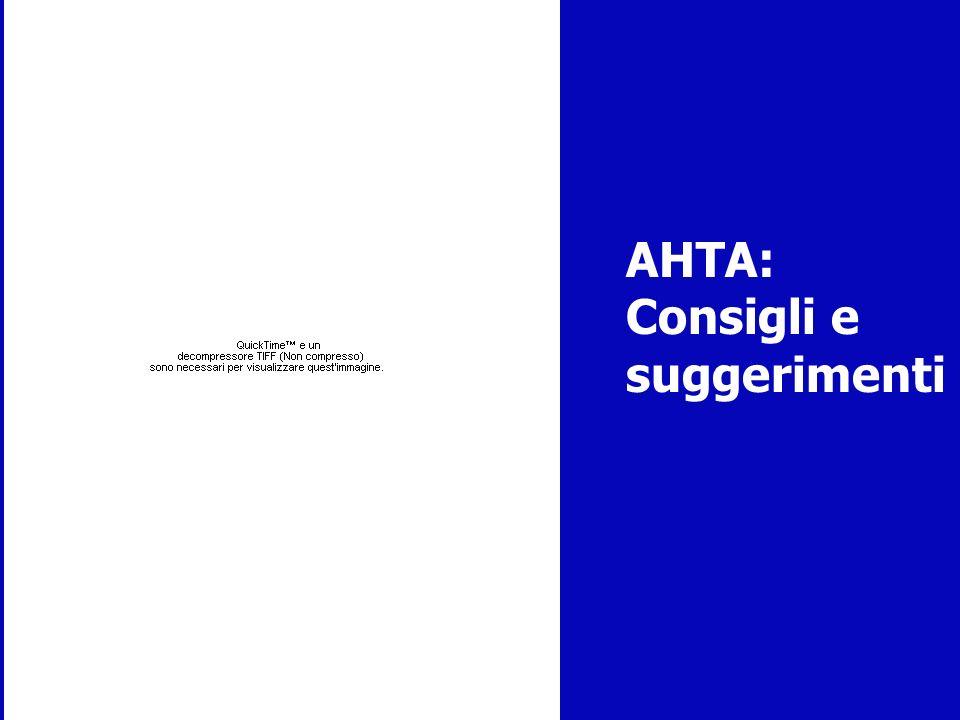 AHTA: Consigli e suggerimenti