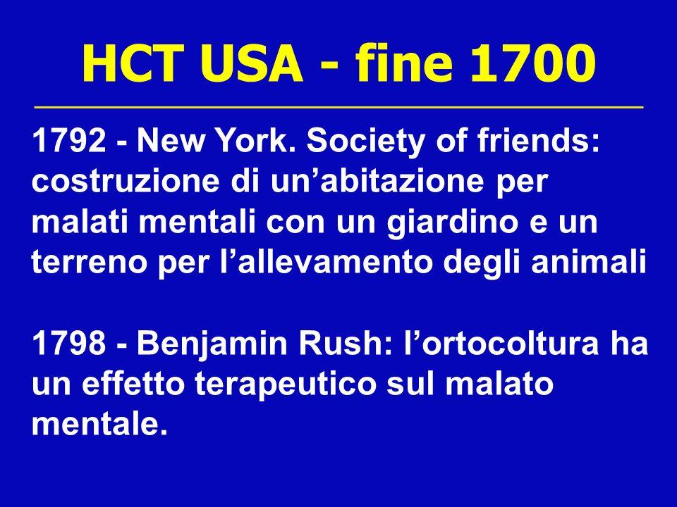HCT USA - fine 1700 1792 - New York. Society of friends: costruzione di unabitazione per malati mentali con un giardino e un terreno per lallevamento