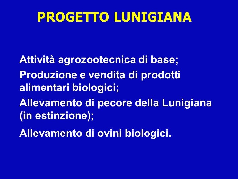 PROGETTO LUNIGIANA Attività agrozootecnica di base; Produzione e vendita di prodotti alimentari biologici; Allevamento di pecore della Lunigiana (in e