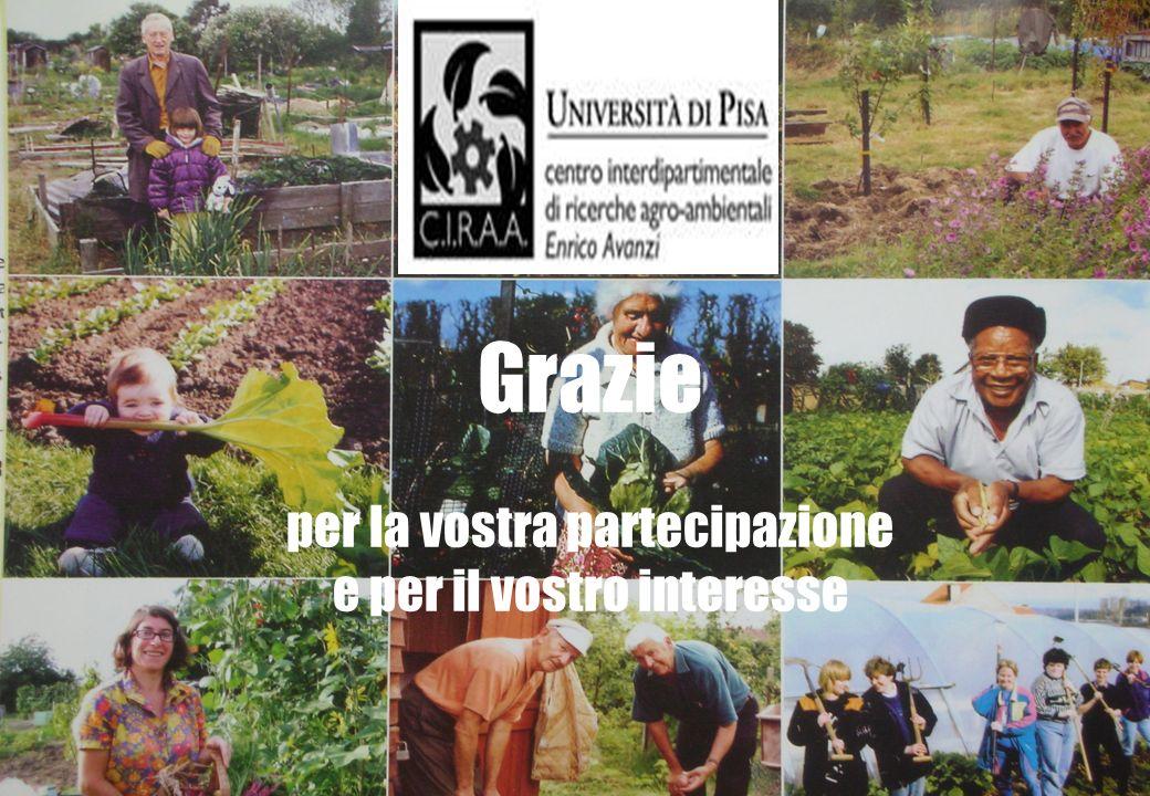 Francesco Di Iacovo, UNIPISA I ruoli dellagricoltura in campo sociale grazie Grazie per la vostra partecipazione e per il vostro interesse