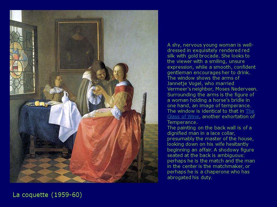 Signora che scrive una lettera in presenza della domestica (1670)