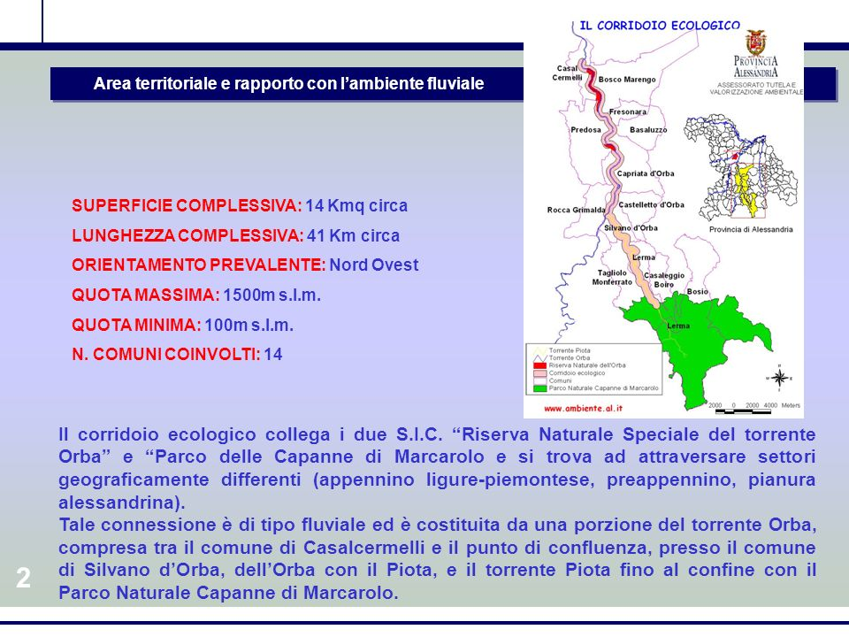 11 Gli obiettivi a breve/medio termine Il CONTRATTO DI FIUME ha degli OBIETTIVI PRIORITARI come larea di Novara e del Piano Paesistico del Terrazzo di Novara – Vespolate.